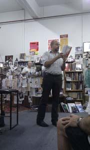 MacCarter reading Helen Lambert's poem 'Flat Jazz'