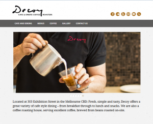 Decoy Cafe website