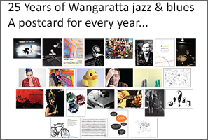 Wangaratta jazz and blues 25 year souvenir postcards